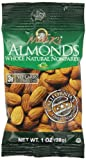 Madi Ks Whole Natural Almonds, 1-Ounce Bags (Pack of 48)