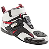 Joe Rocket Atomic Men's Motorcycle Riding Boots/Shoes (White/Red, Size 13)