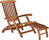 Tubestyle TSDCK001 Deck Recliner (Natural Finish, Teak)