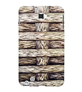 PrintVisa Knitted Ropes Pattern 3D Hard Polycarbonate Designer Back Case Cover for Samsung Galaxy Note 1