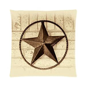 Decorative Western Throw Pillows : Amazon.com: Western Texas Star Decorative Throw Pillow Case PillowCase Cushion Cover 16x16 (Twin ...