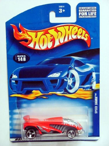 Mattel Hot Wheels Red Gray Trim Speed Shark 148 2001