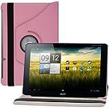 kwmobile 360° Premium KUNSTLEDERTASCHE für Acer Iconia A200 / A210 / A211 in Pink mit praktischer Ständerfunktion