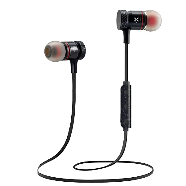 Bluetooth Earbuds Wireless Headphones Sport Wireless Earbuds Magnetic Attraction Stereo Bluetooth Headphones Magnetic Design, in-Ear Earphones, Superi