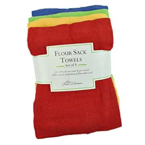 Amazon.com - Primary Color Flour Sack Towels-set of 4