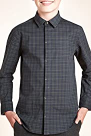 Autograph Pure Cotton Tartan Checked Shirt [T87-3257A-S]
