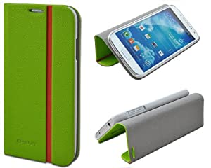 Shenit Samsung Galaxy S4 i9500 Slim Smart Leather Case Flip Cover Folio with Stand - Green