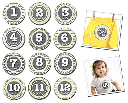 Sticky Bellies Baby Month Stickers - Pattern Peanut