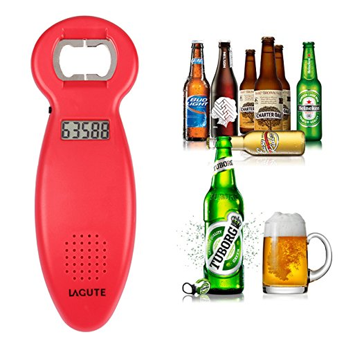 3PCS LAGUTE Beer Counting Tracker Bottle Opener, Kitchen Party Gadget Beer Tally Gift (Red)
