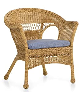 Amazon.com : All-Weather Resin Outdoor Easy Care Wicker Chair, In Tan