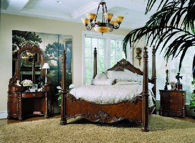 Pulaski Furniture Edwardian 6/6 Poster King Bed