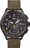 [タイメックス]TIMEX インテリジェントクォーツ リニアインディケーター ブラックダイアル オリーブストラップ T2P276 メンズ 【正規輸入品】