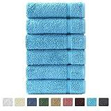 """16""""x30"""" 6pc Luxury Hand Towels (Aqua)"""