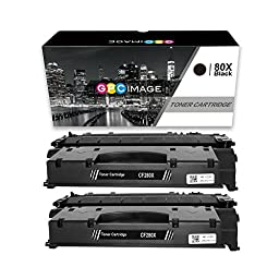 GPC Image 2 Compatible Toner Replacement for HP 80X CF280X (2 Black) for use in HP LaserJet Pro M425dw Wireless All-in-One 400 M401n M425dn Printers