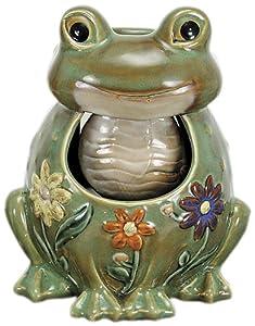 Nature's Garden Porcelain Frog Tabletop Garden Fountain