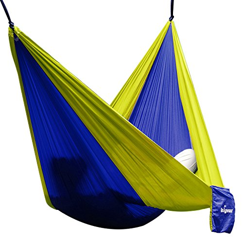h ngematte camping hammock single double parachute leicht und tragbar mit extra. Black Bedroom Furniture Sets. Home Design Ideas