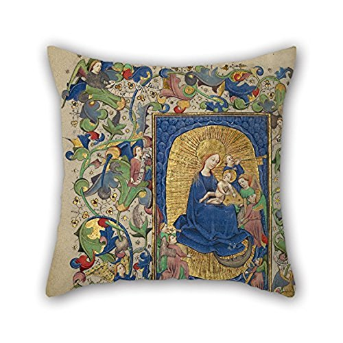 Happy Festival Master Of Guillebert De Mets (Flemish Active About 1410 1450) The Virgin And Child With Angels Pillowcase 18 X 18 Inches 45 By 45 Cm Gift Or Decor For Husband Bf For Home (Dresser Knobs Mets compare prices)