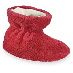 ACORN Spa Terry Bootie,Scarlet,TS (0-6 Months M US Infant)