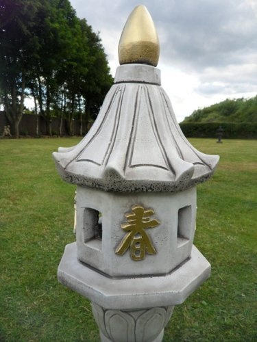 Chinese Petal Lantern Oriental Stoneware
