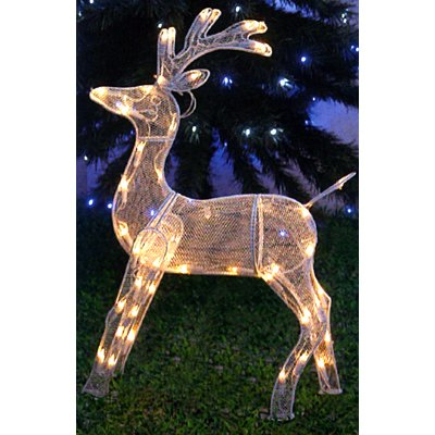 Proud Standing Reindeer 50 LED Lights Christmas Decoration