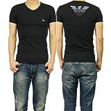 (エンポリオアルマーニ)EMPORIO ARMANI エンポリオアルマーニアンダーウェア メンズVネックTシャツ 110810 4P745 ブラック [並行輸入商品]