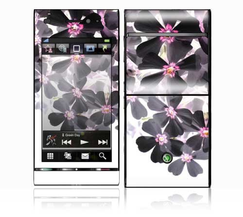 Asian Flower Paint Design Decorative Skin Cover Decal Sticker for Sony Ericsson Satio Cell Phone