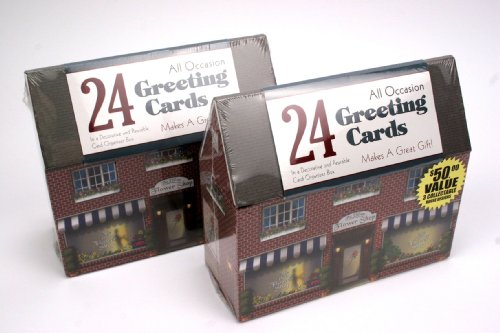 24-Ct Paper Magic All Occasion Greeting Cards In Decorative Reusable Box- The Village Flower Shop