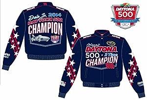 2014 Dale Earnhardt Jr. Daytona 500 Mens Twill Nascar Jacket Medium by J.H. Design