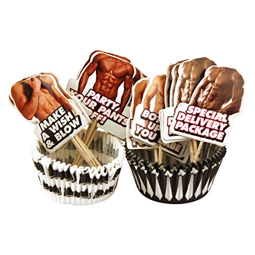 Bachelorette Party Cupcake Wrappers - Hot Bod Style - 24