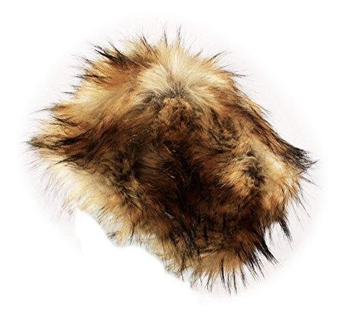 itzu-ladies-womens-luxury-faux-fur-russian-cossack-hat-ski-winter-warm-cosy-fleece-lined-in-brown