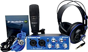 Presonus AudioBox Studio with Headphones, Microphone, Mic Cable, USB Cable, and StudioOne Artist Software