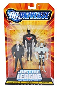DC Universe Justice League Unlimited Fan Collection Action Figure 3Pack Bruce Wayne, Batman & Warhawk