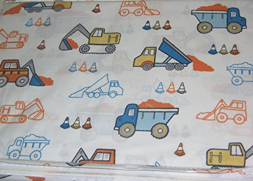 Boy Zone Colorful Construction Vehicles Twin Sheet Set (Big Truck Bedding compare prices)