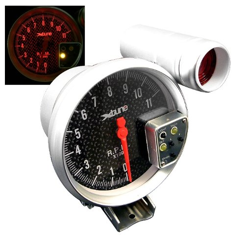 Aurora Instruments GAR2123ZMAIABCC Cobra Series Black Tachometer Gauge with Emblem