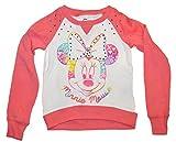 Disney Minnie Mouse Big Girls Long Sleeve Graphic Sweatshirt (Size XS 4/5)