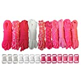 Paracord Planet 550lb Type III Paracord Combo Crafting Kits with Buckles (Pink Pride)