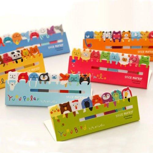 familymall-adesivi-segnalibro-confezione-da-1-pezzo-120-pagine-motivo-animali