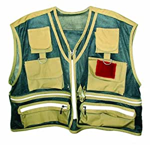 Buy eagle claw adult mesh fishing vest small online at for Fishing vest amazon