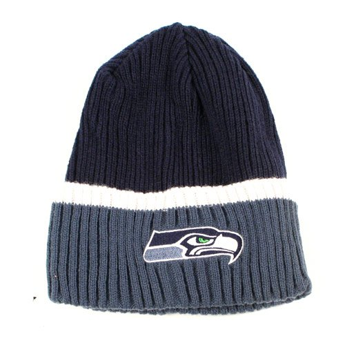 Seattle Seahawks Child/Kid's Beanie Hat - Youth NFL Thin Ribbed Knit Cuffed Cap at Amazon.com