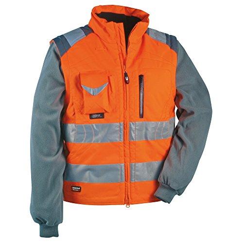 Cofra - Maglione e gilet ad alta visibilità, 2 in 1, modello: Signal, colore: arancione fluorescente, 40-00V02301-64