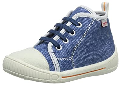 Superfit Bully 20024991 Unisex-Kinder Hausschuhe, Blau (denim kombi 91), EU 18