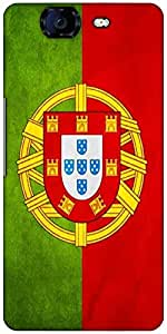 Snoogg Portugal Flag 2982 Designer Protective Back Case Cover For Micromax Canvas Knight A350