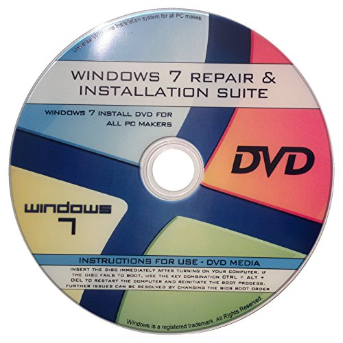 Windows 7 All ANY 32/64-bit Versions Ultimate, Home Premium, New Full Re Install Boot Disc - Repair Restore Recover DVD (Windows 7 Repair compare prices)