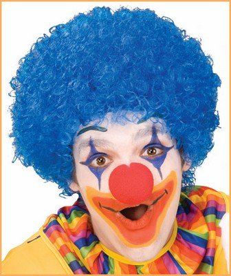 Costume Wigs Clown Wigs Blue Afro Wig