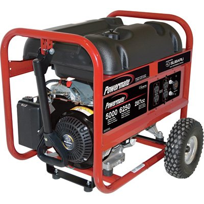 Powermate Portable Generator - 6250 Surge Watts, 5000 Rated Watts, Model# PM0435005 PowerMate B007826HFU