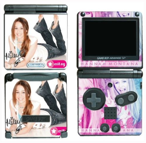 Gamerz Skinz Hannah Montana Miley Cyrus Vinyl Decal Skin Protector Cover 1 For Nintendo Gba Sp Gameboy Advance