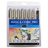 Sakura 50203 8-Piece Pigma Manga Comic Pro Drawing Kit