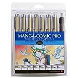 Sakura 50203 8-Piece Pigma Manga Comic Pro Drawing Kit