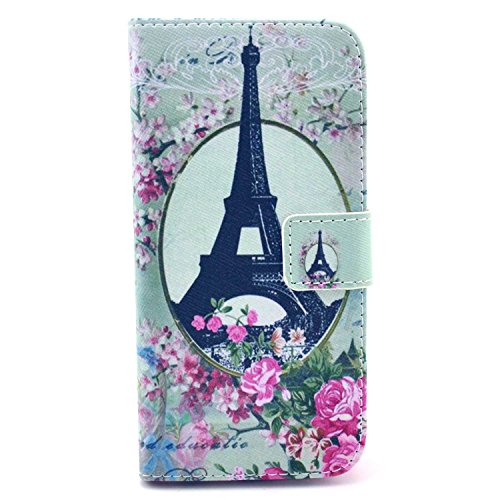 For Apple Iphone 6 Case,Nancy'S Shop Sparkle Wallet Pu Leather [Stand Feature] Type Magnet Design Flip Protective Credit Card Holder Pouch Skin Case Cover For Iphone 6(4.7-Inch)(2014)-- (In The Mirror The Eiffel Tower))