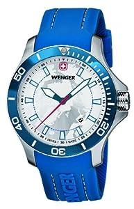 Wenger 010641112 - Reloj de pulsera hombre, silicona, color azul